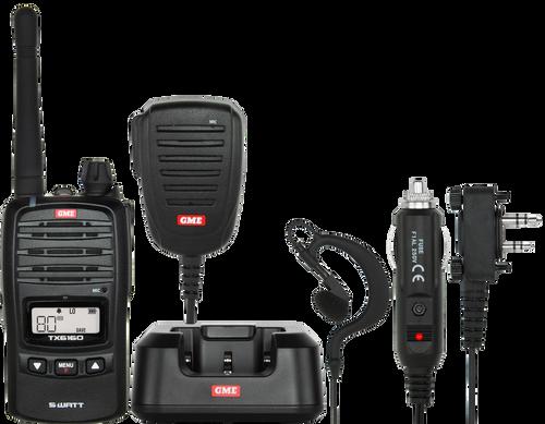 GME 5/1 Watt UHF CB Handheld Radio including Accessories