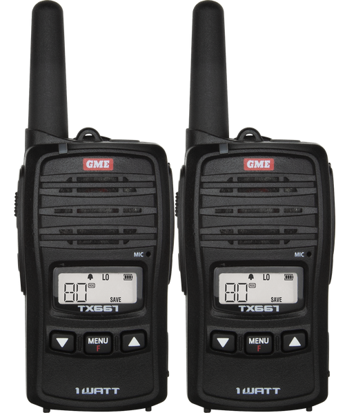 GME 1 Watt UHF CB Handheld Radio - Twin Pack