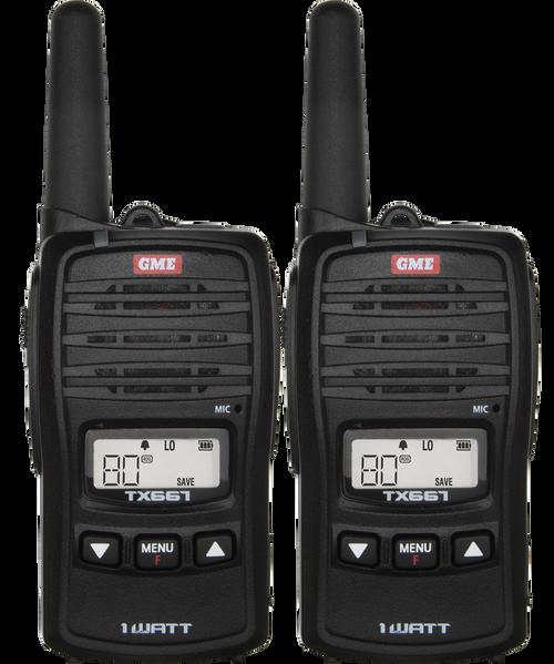 GME 1 Watt UHF CB Handheld Radio - Twin Pack