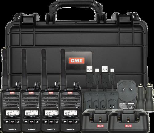 GME 2 Watt UHF CB Handheld Radio - Quad Pack