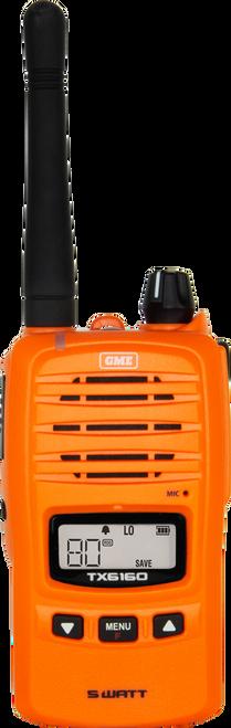 GME 5/1 Watt IP67 UHF CB Handheld Radio - Blaze Orange