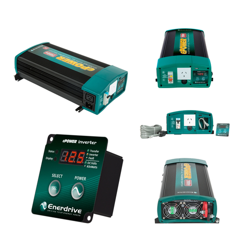 Enerdrive ePOWER 2000w/24v w/RCD & AC Tfer Switch