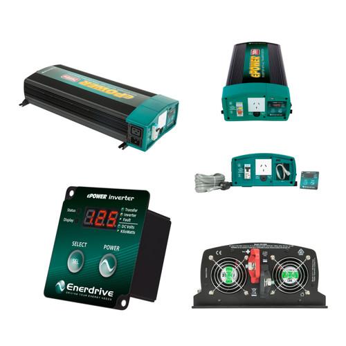 Enerdrive ePOWER 2600W/12v w/RCD & AC Tfer Switch