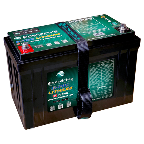 Enerdrive B-TEC 125amp / 12v LiFePO4 Battery Gen2