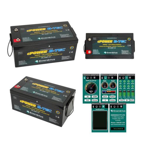 Enerdrive B-TEC 300amp / 12v LiFePO4 Battery BT