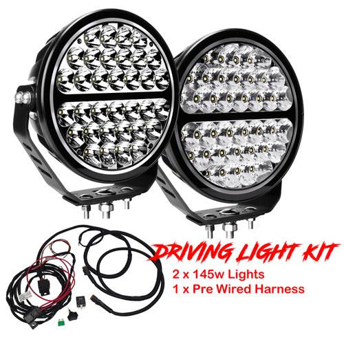 Piranha High Power 9 Inch Driving Light Kit