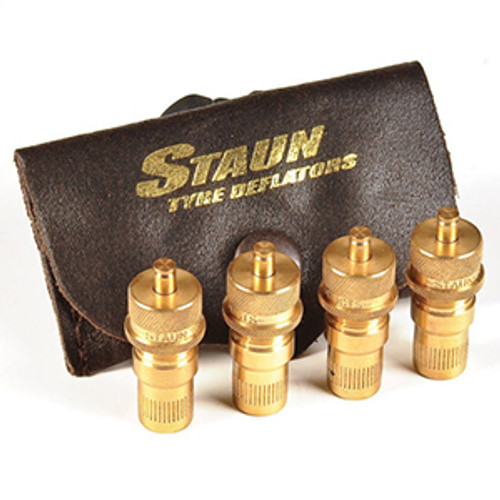 Set of 4 x Staun Automatic Tyre Deflators (6-30 psi)