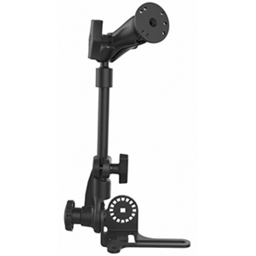 "RAM-316-HDR-202U RAM (Reverse Configuration) Universal No-Drill™ RAM POD HD™  Vehicle Mount with Double Socket Arm & 2.5"""" Round Base AMPs Hole Pattern"