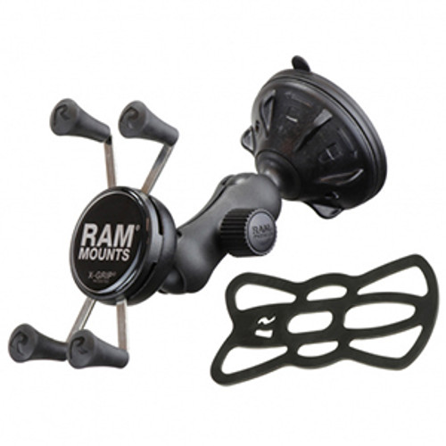 RAP-B-166-2-UN7U RAM Composite Twist-Lock™ Suction Cup Mount with Universal X-Grip® Cell Phone Cradle