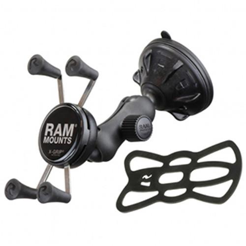 RAP-B-166-2-UN7U RAM Composite Twist-Lock??Suction Cup Mount with Universal X-Grip? Cell Phone Cradle