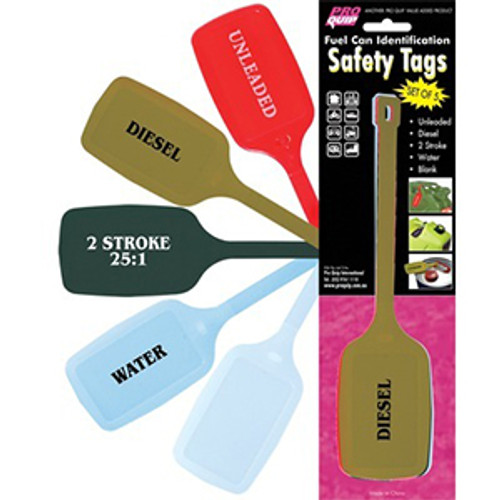 Fuel Can Safety Tags