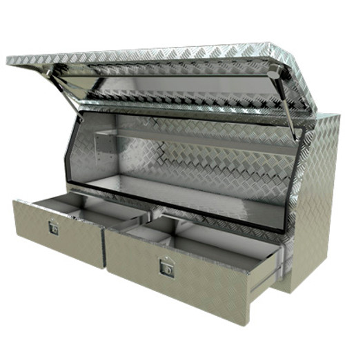 3/4 Opening 2-Draws Toolbox 1400x550x800