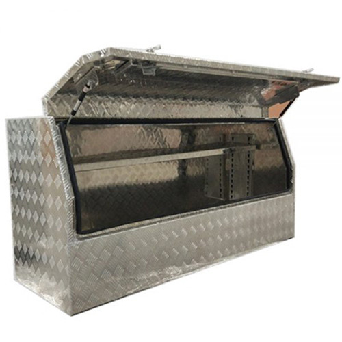 3/4 Side Opening Ute Toolbox - with Shelf 1210x550x800