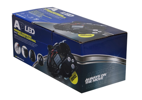 AP LED Auxiliary Light Harness - Remote Controlled - 30 Amp