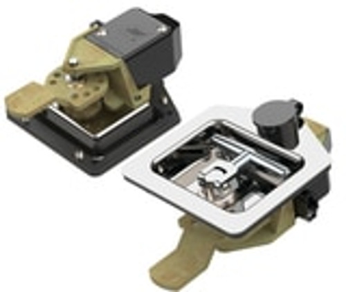 Electronically Locking T-handle Lock with Remote Locking Capability Bent Tongue with key K411