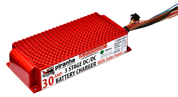 Piranha DC-DC 30 Amp Battery Charger With Solar Input