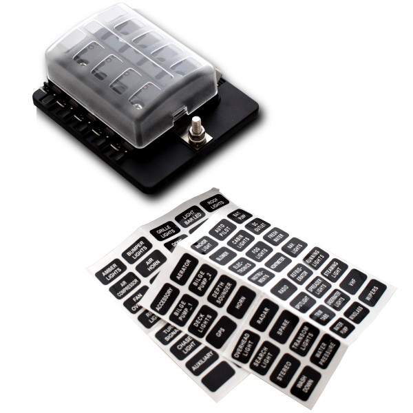10 Way standard fuseholder with PC Terminals