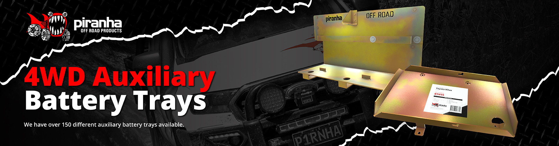 Piranha Off Road Battery Trays