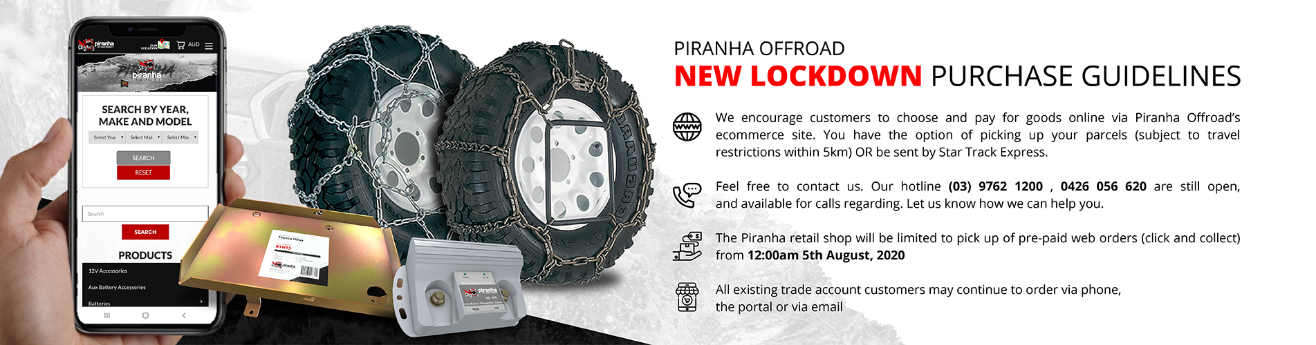 Piranha Off Road Purchase Guidelines