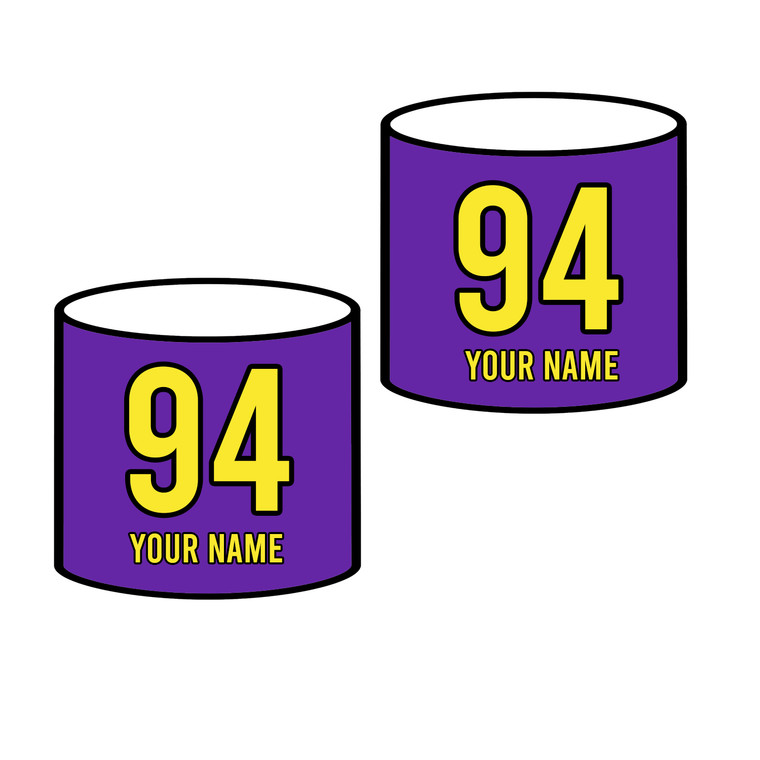 Custom roller derby arm bands