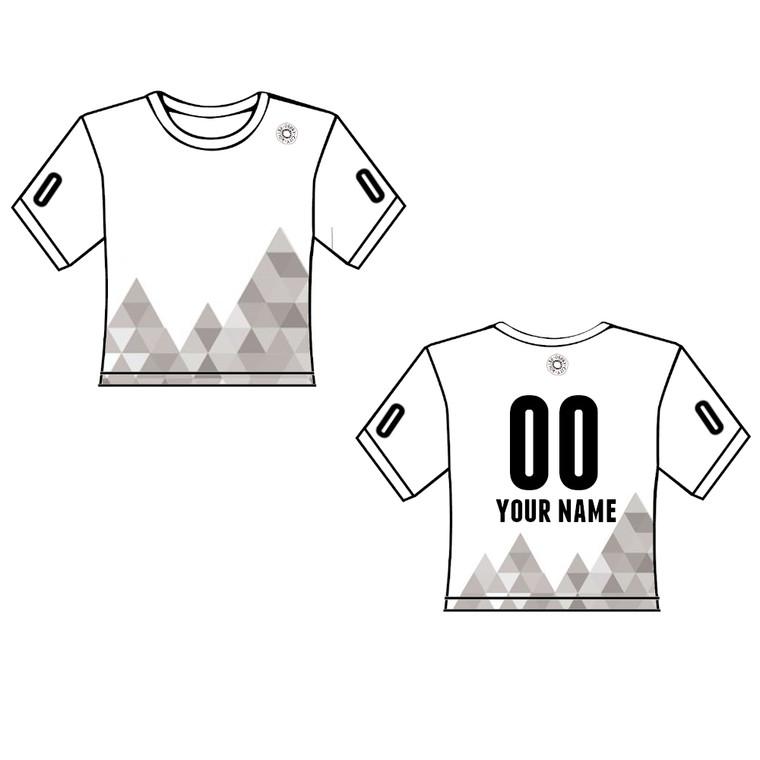 geo print roller derby scrimmage shirt