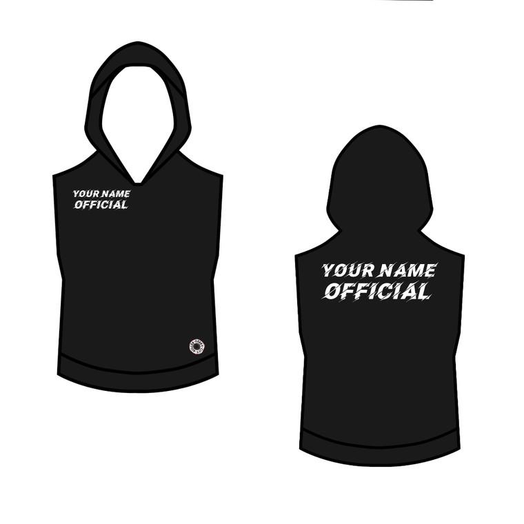 Roller derby officials sleeveless hoodie