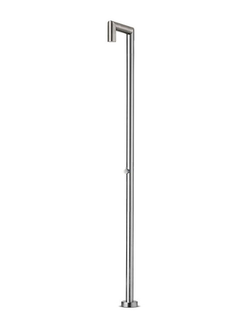 JEE-O original 04 freestanding outdoor shower with pressure balance valve in brushed stainless steel