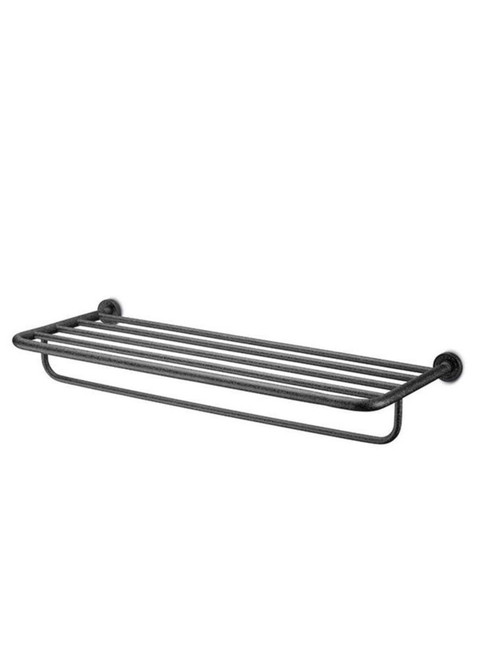 JEE-O soho towel rack wall mounted towel rack in hammercoat black stainless steel