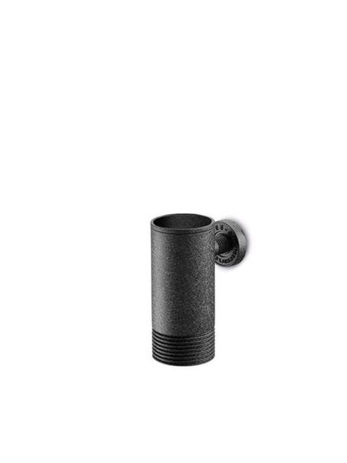 JEE-O soho wall mounted toothbrush holder in hammercoat black stainless steel