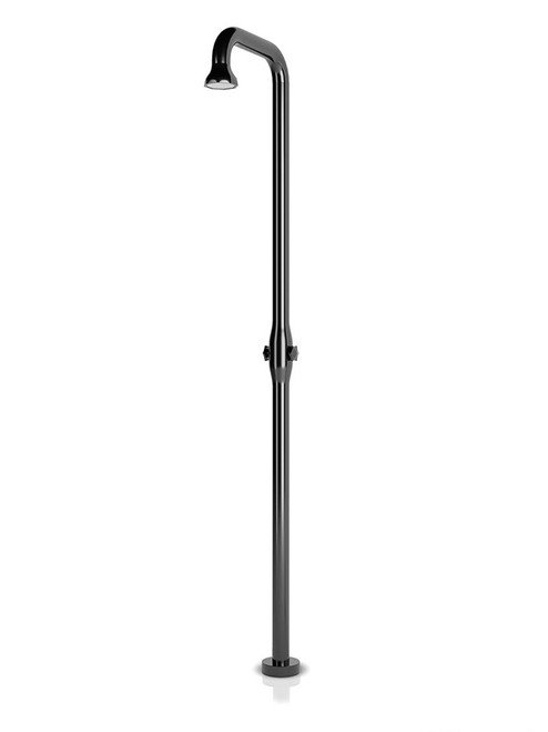 JEE-O bloom shower 01 freestanding outdoor shower with two-handle mixer in PVD gun metal stainless steel