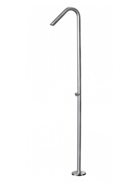 AMA Atlas 3800 freestanding 316 marine grade stainless steel outdoor shower with volume control valve (cold water only)