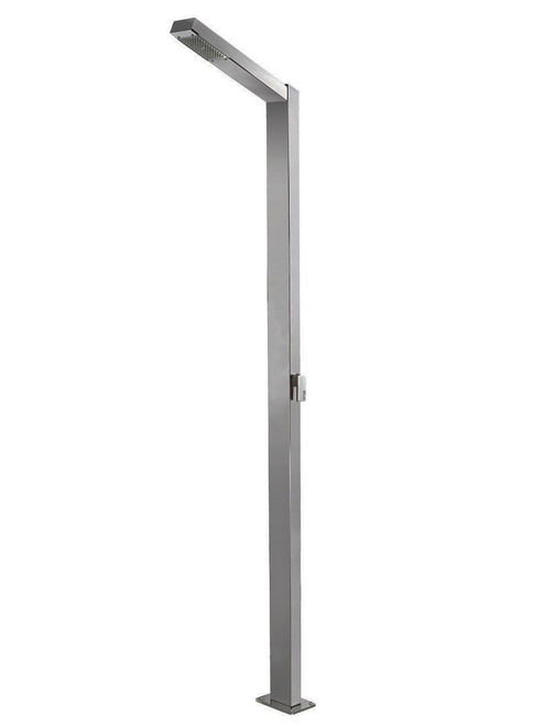 AMA Saturno 5900 freestanding 316 marine grade stainless steel outdoor shower with single lever mixing valve