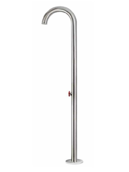 AMA Titano 4800 freestanding 316 marine grade stainless steel outdoor shower with volume control valve (cold water only)