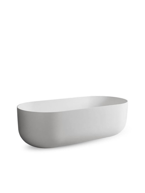 JEE-O flow bath freestanding bathtub with integrated overflow made of DADOquartz
