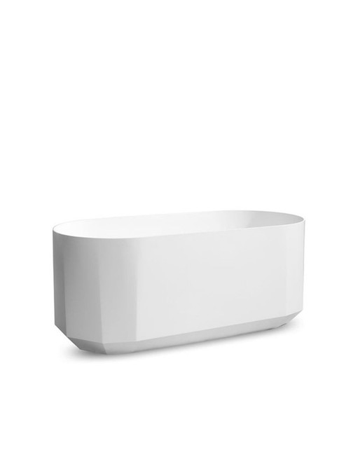 JEE-O bloom bath freestanding bathtub with integrated overflow made of DADOquartz