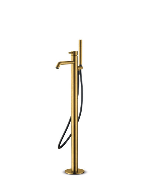 JEE-O slimline bath mixer 02 freestanding stainless steel bath filler with two-way pressure balance valve and hand shower