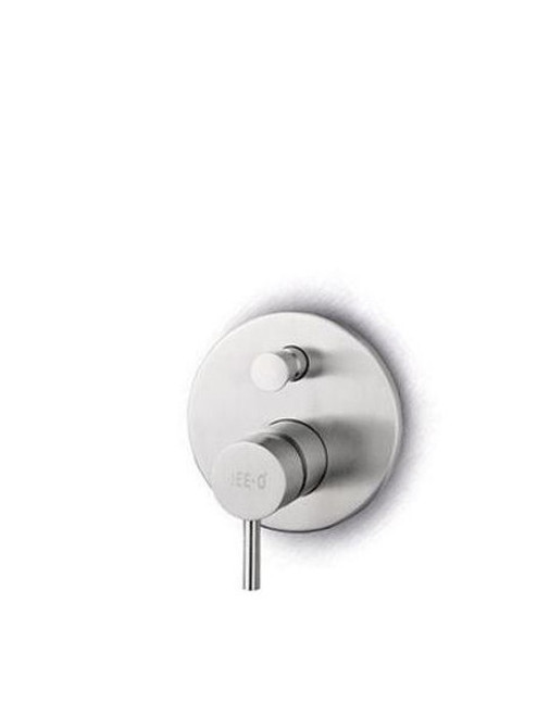 JEE-O slimline mixer 02 wall mounted stainless steel tub/shower valve with single lever mixer and two-way diverter