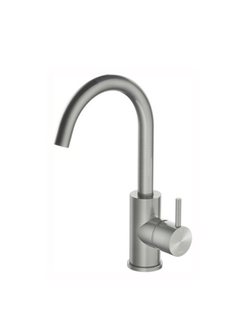Archie AR004 316 Stainless Steel Single Hole Faucet w/ Swivel Spout