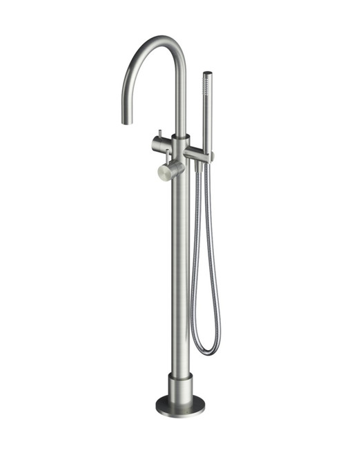 Archie AR077 316 Stainless Steel Freestanding Bath Filler with Hand Shower - Trim only
