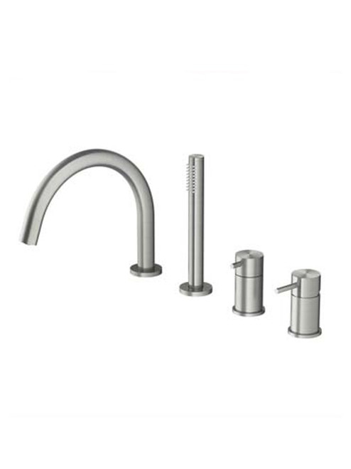 Archie AR073 316 Stainless Steel Deck Mount Bath Set w/ Hand Shower
