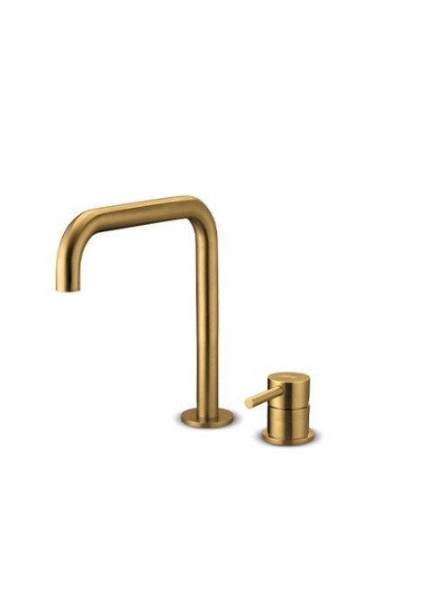 JEE-O slimline 2-hole mixer set low top mounted two-hole stainless steel faucet with single lever mixer