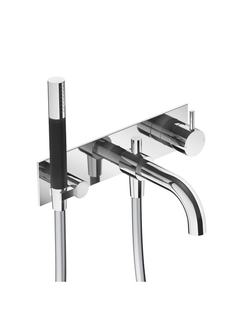 Cobber CB026 Wall Mount Bath Set with Spout and Hand Shower - Trim Only