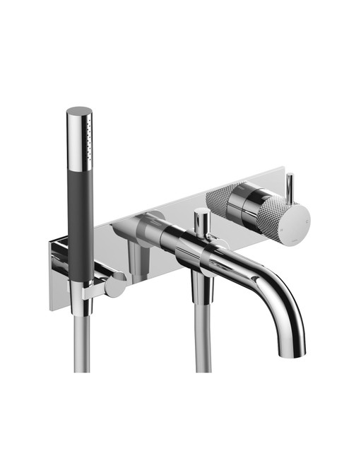 Cobber-X CX026 Wall Mount Bath Set with Spout and Hand Shower - Trim Only