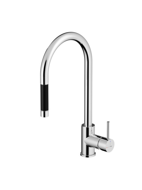 Fellow FKM12 Single Hole Kitchen Faucet with Pull-Down Spray
