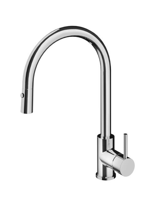 Fellow FKM14 Single Hole Kitchen Faucet with Pull-Down Dual Spray
