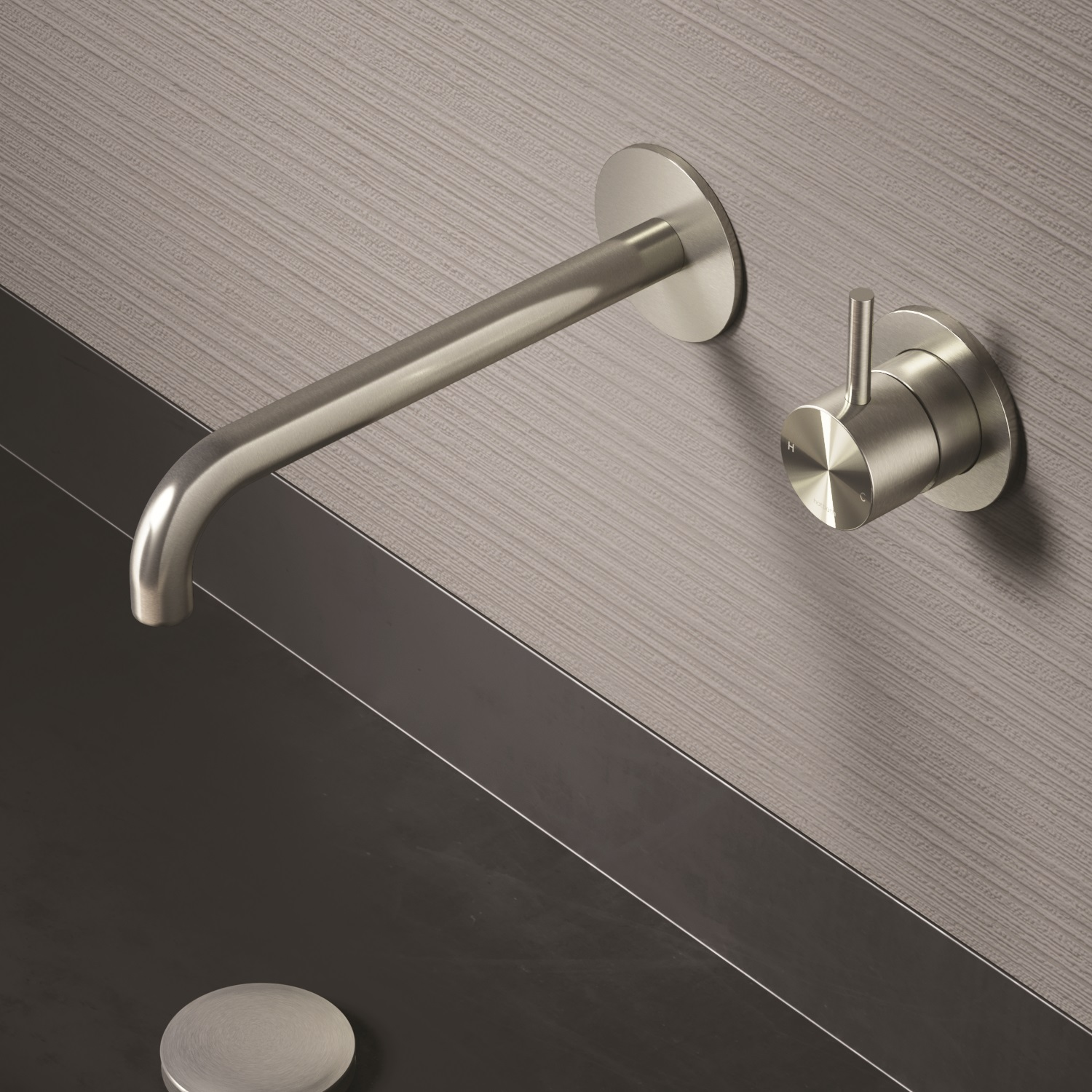 Archie AR005 316 Stainless Steel Wall Mount Faucet - Trim Only