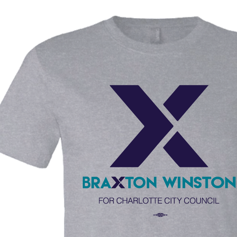 """X"" Braxton Winston Logo (on Athletic Heather Tee)"