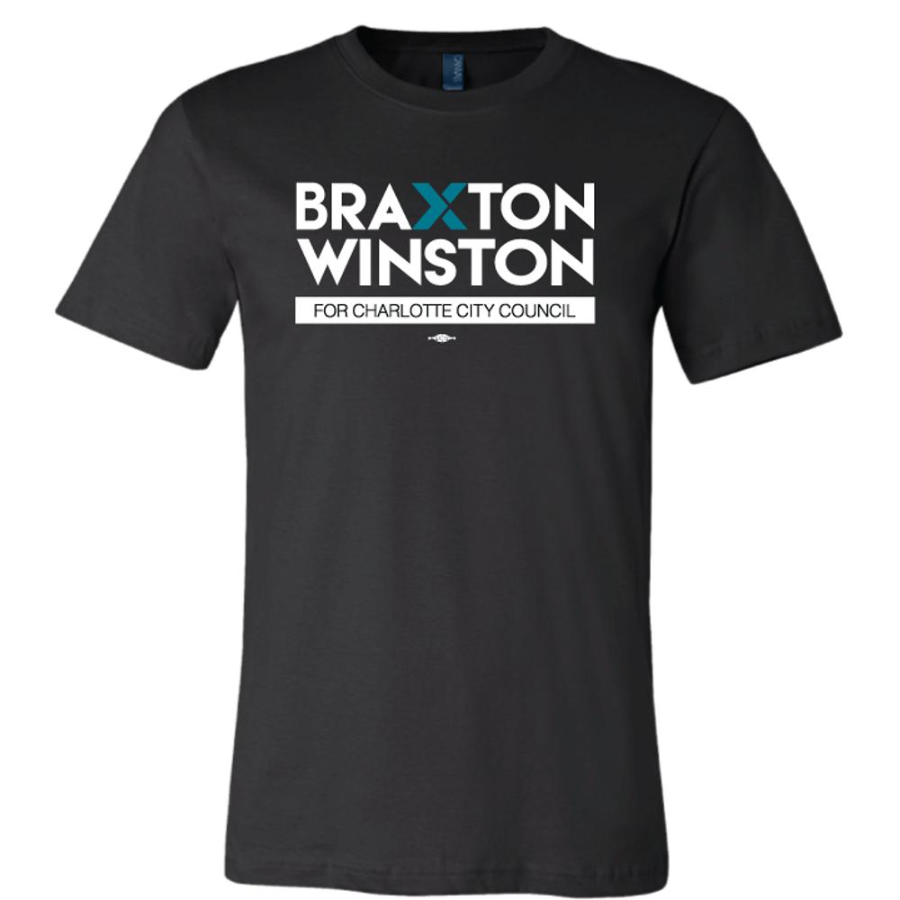Braxton Winston Full Logo (on Black Tee)