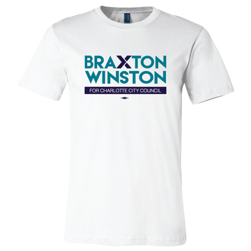 Braxton Winston Full Logo (on White Tee)