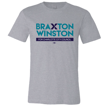 Braxton Winston Full Logo (on Athletic Heather Tee)
